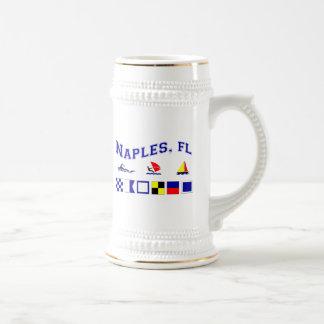 ナポリ、海上旗とのFL ビールジョッキ