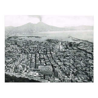 ナポリ、1908年、水辺地帯区域およびVesuvius ポストカード