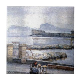 ナポリ。 Enbankment。 Vasily Surikov著 タイル