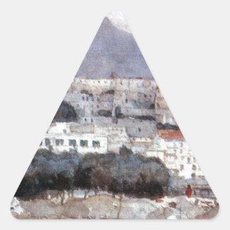 ナポリ。 Vesuvius。 Vasily Surikov著 三角形シール