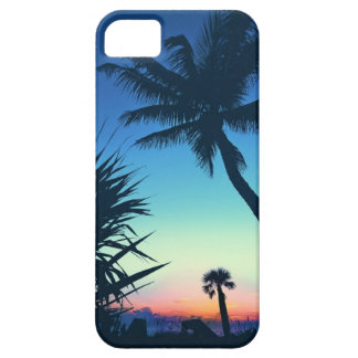 ナポリFLの日没のやしII iPhone SE/5/5s ケース