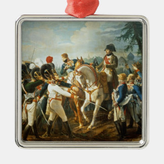 ナポレオンおよびバイエルン人およびWurttemberg シルバーカラー正方形オーナメント
