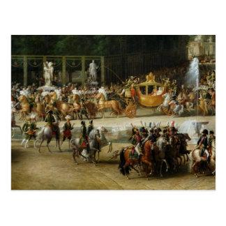 ナポレオンおよびMarieルイーズの記入項目 ポストカード
