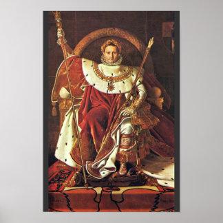 ナポレオンのポートレートI。 IngresジーンAuguste Domによって ポスター