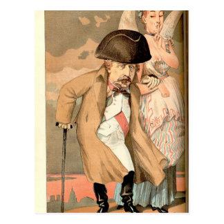 ナポレオンの主権者No.10の風刺漫画III ポストカード