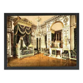 ナポレオンの寝室Iのフォンテンブロー宮殿、フラン ポストカード