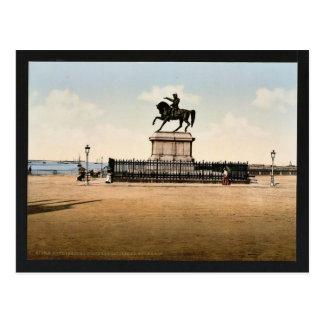 ナポレオンの彫像IのCherbourg、フランスのクラシックPH ポストカード