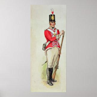 ナポレオンの時のイギリスの兵士 ポスター