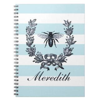 ナポレオンの蜂および月桂樹のリースの短命なもの ノートブック