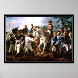 ナポレオンのAbensberg 1809年の戦い ポスター