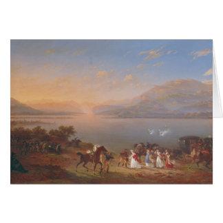 ナポレオンを訪問するために着いている皇后Josephine カード