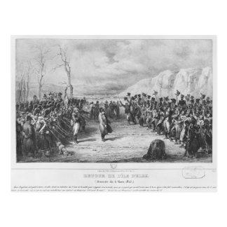 ナポレオンエルバ島から戻るI ポストカード