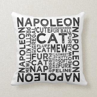 ナポレオン猫のタイポグラフィ クッション