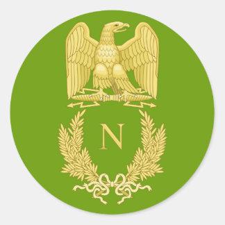 ナポレオンIのステッカーの帝国ワシの紋章 ラウンドシール