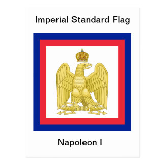 ナポレオンIの郵便はがきの帝国標準的な旗 ポストカード