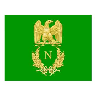 ナポレオンIの郵便はがきの帝国紋章 ポストカード