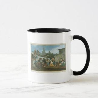 ナポレオンIIIの訪問の洪水の被災者の マグカップ
