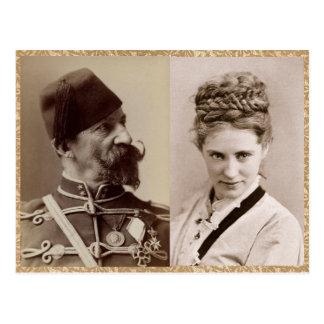ナポレオンSarony 1870年著アグネスEthel ポストカード
