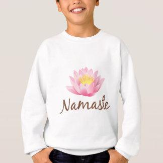 ナマステのはすの花のヨガ スウェットシャツ