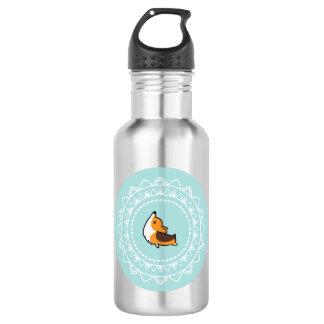 ナマステのコーギーの三色の青い紋章の水差し ウォーターボトル