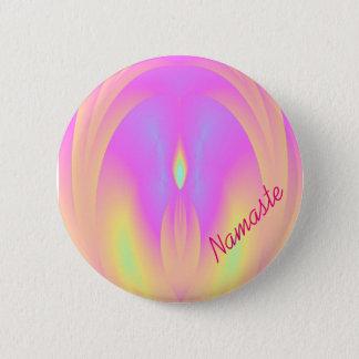 ナマステのスピーカーのヨガの霊気ボタンボタン 5.7CM 丸型バッジ