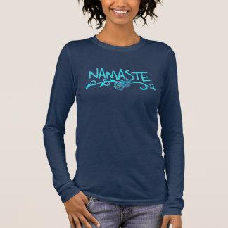 ナマステのヨガのトップの長袖 長袖Tシャツ