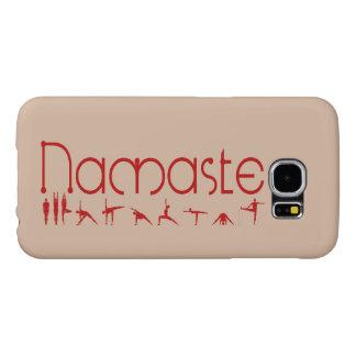 ナマステのヨガの電話カバー SAMSUNG GALAXY S6 ケース