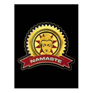 ナマステの仏のロゴ ポストカード