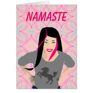 ナマステの挨拶状 カード