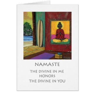 ナマステの挨拶状©2016の精神のサーファーのコレクション カード