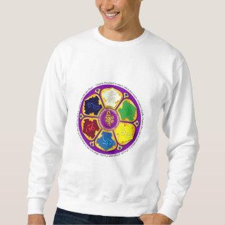ナマステの曼荼羅-紫色 スウェットシャツ