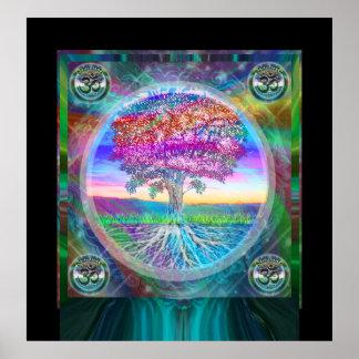 ナマステの生命の樹 ポスター