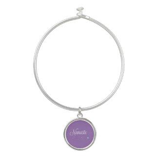 ナマステの紫色の腕輪のブレスレット バングルブレスレット