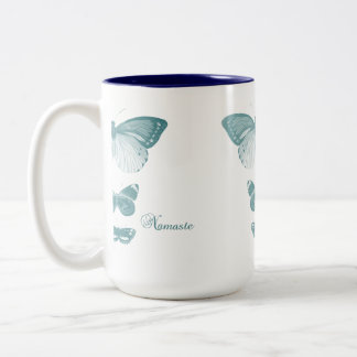 ナマステの蝶 ツートーンマグカップ
