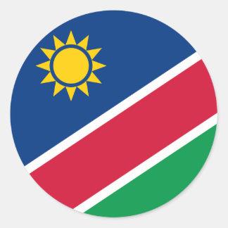 ナミビアのステッカーの旗 ラウンドシール