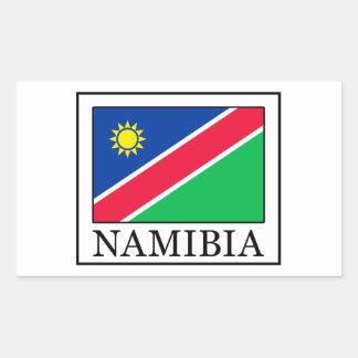 ナミビアのステッカー 長方形シール