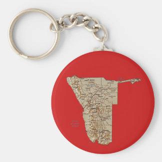 ナミビアの地図Keychain キーホルダー