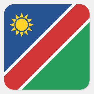 ナミビアの旗のステッカー スクエアシール