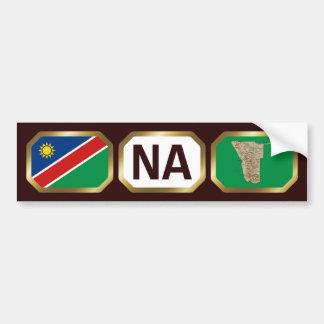 ナミビアの旗の地図コードバンパーステッカー バンパーステッカー