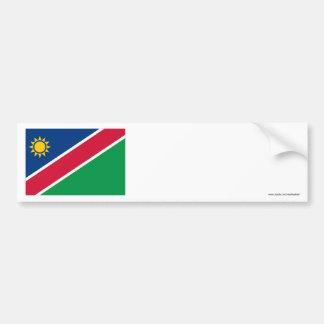 ナミビアの旗 バンパーステッカー