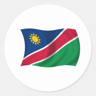 ナミビアの旗 ラウンドシール