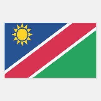 ナミビアの旗 長方形シール