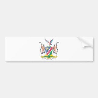 ナミビアの紋章付き外衣 バンパーステッカー