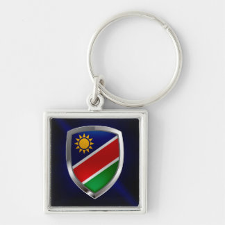 ナミビアの金属紋章 キーホルダー