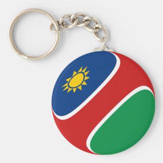 ナミビアFisheyeの旗Keychain キーホルダー