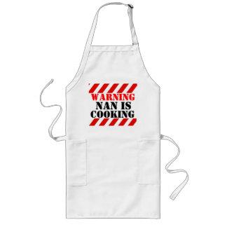 ナンを警告することはグラフィックの調理師のエプロンを調理することです ロングエプロン