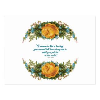 ナンシー・レーガン著女性のための感動的な引用文 ポストカード