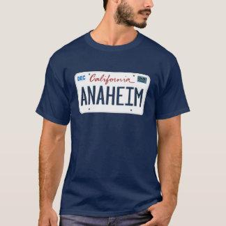 ナンバープレートのアナハイムカリフォルニアのTシャツ Tシャツ