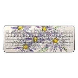 ナンHenkeのオリジナルの水彩画からの星状体のキーボード ワイヤレスキーボード