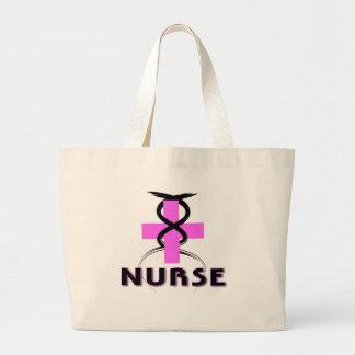 ナースのピンクのバッグ ラージトートバッグ